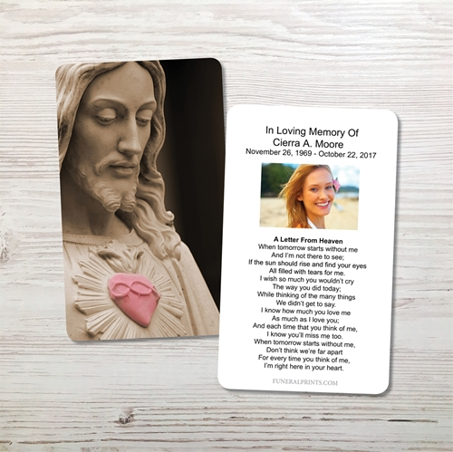 Picture of Sacred Heart Memorial Card