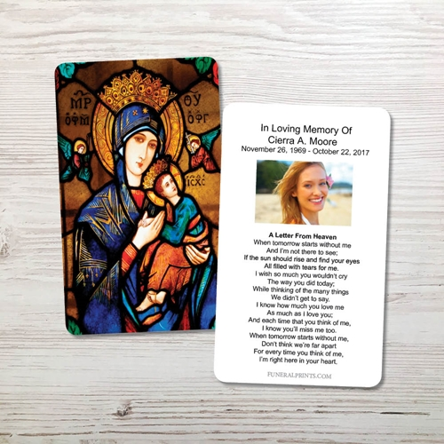 Picture of Our Lady Memorial Card