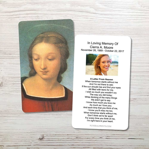 Picture of Mary Memorial Card
