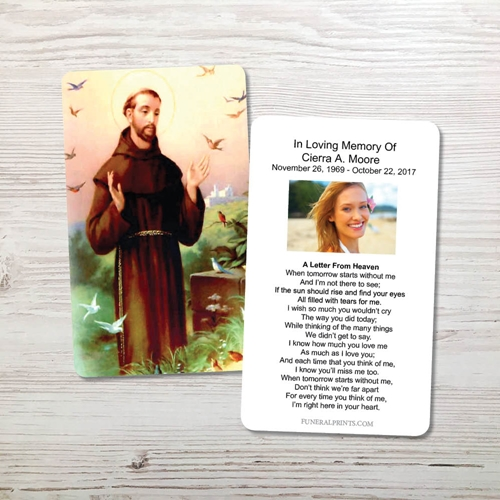 Picture of St. Francis 2 Memorial Card