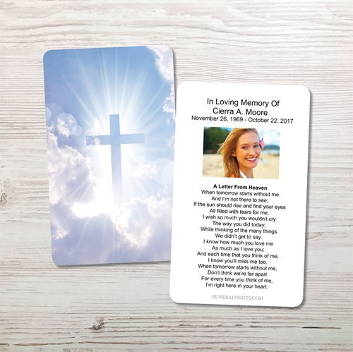 Picture of Cross in the Clouds Memorial Card