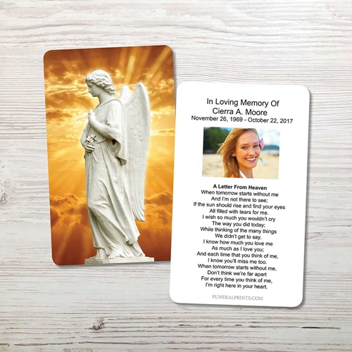 Picture of Angel 1 Memorial Card