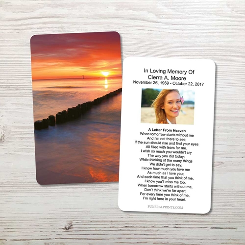 Picture of Sunset Bay Memorial Card