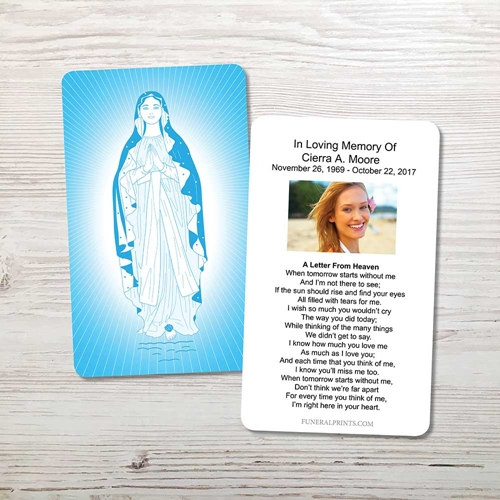 Picture of Virgin Mary 2 Memorial Card