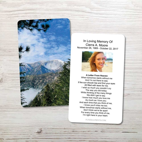 Picture of Mountains Memorial Card