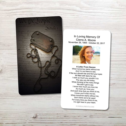 Picture of Dog Tags Memorial Card