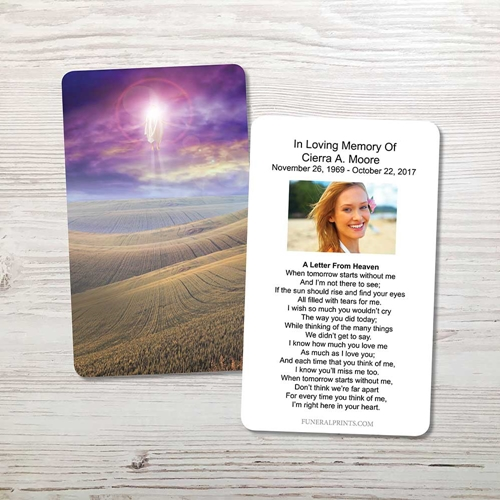 Picture of New Beginning Memorial Card