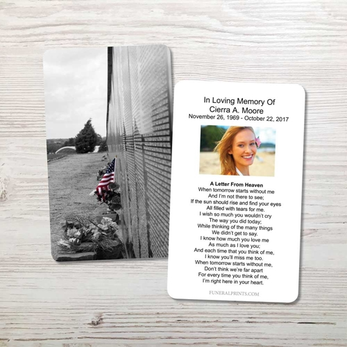 Picture of Vietnam Wall Memorial Card