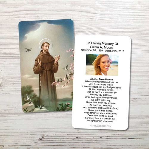 Picture of St. Francis 3 Memorial Card