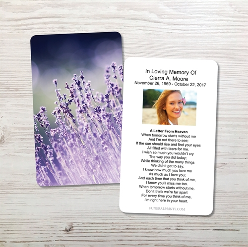 Picture of Lavender Lights Memorial Card