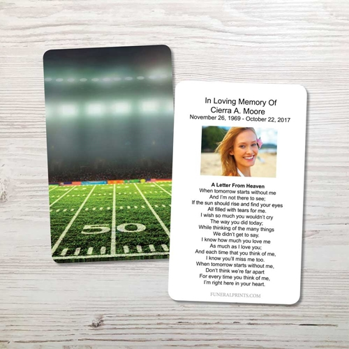 Picture of Football Field Memorial Card