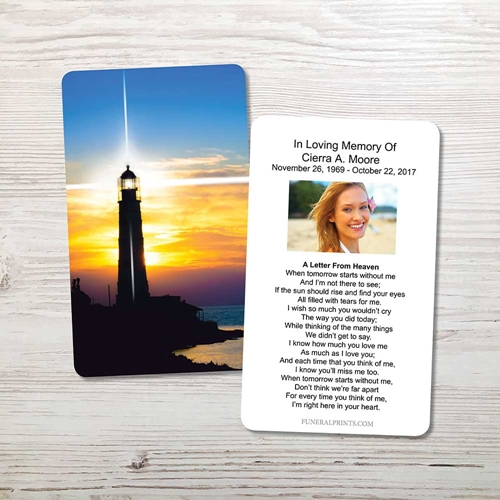 Picture of Lighthouse Memorial Card