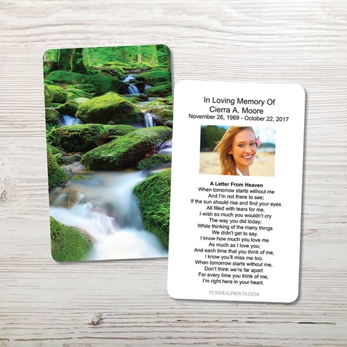Picture of Moss on the Rocks Memorial Card