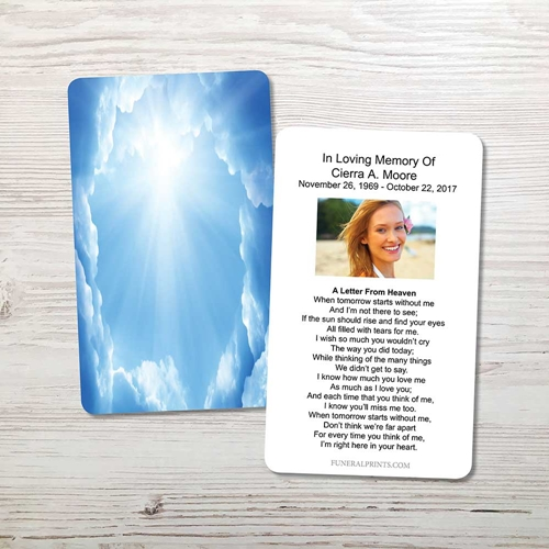 Picture of Blue Clouds Memorial Card