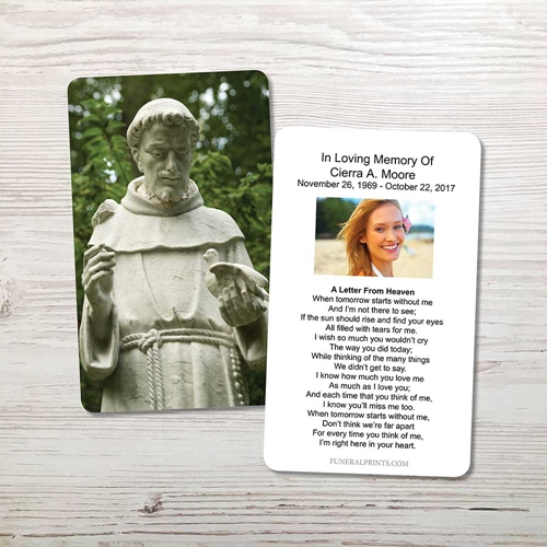 Picture of Saint Francis of Assisi Memorial Card