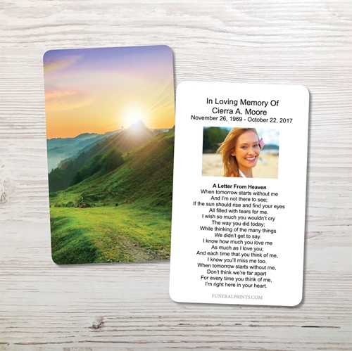 Picture of Mountain Rainbow Memorial Card