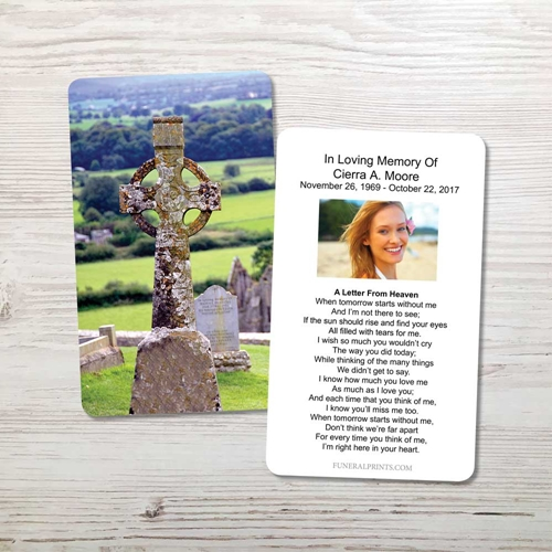 Picture of Celtic Cross 2 Memorial Card